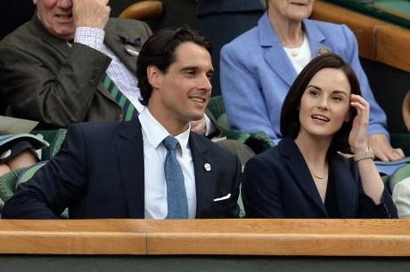 Hot couple alert. Michelle Dockery & James Dineen